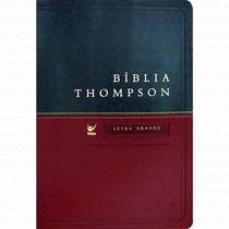 Bíblia De Estudo Thompson Letra Grande - Verde Vermelha