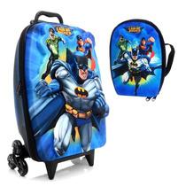Mochila Liga Da Justiça Batman Com Lancheira