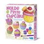 Brinquedo Educativo - Molde E Pinte Cupcake - Ímãs E Broches