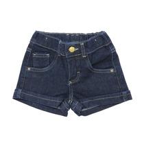 Bermuda Shorts Infantil Menina Jeans Escuro Carinho C170