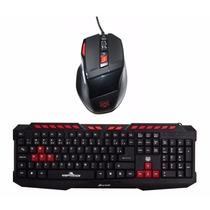 Kit Gamer Teclado Multimídia+ Mouse Spider Macro Usb 2000dpi