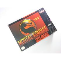 Cartucho Super Nintendo - Mortal Kombat 1 Na Caixa