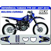 Adesivos - Ttr 230 2007 2015 - Mulisha Curing - Qualidade 3m