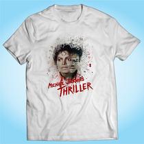 Camisa Michael Jackson Thriller Música Pop Personalizada