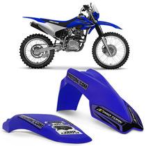 Kit Paralama Dianteiro Traseiro Mx2 Pro Tork Azul Motocross