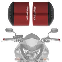 Peso Guidao Moto Universal Racing Vermelho Curto Evolution
