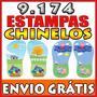 9.174 Pares De Estampas Chinelos Sandalias Canecas Infantil