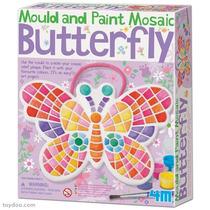 Brinquedo Educativo - Molde E Pinte Mosaico Borboleta