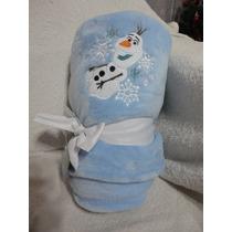 Cobertor Manta Bebe Frozen Olaf Disney No Br 150 Cm