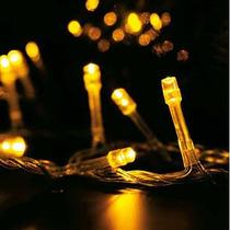 Pisca Pisca Led Natal Amarelo100 Led 110v 9 Metros 8 Funções