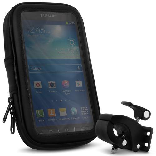 Estojo A Prova D ´ água Celular Iphone Mp3 Gps Suporte P / Bike