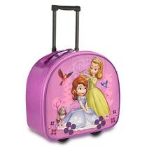 Mala C/ Rodinhas Princesa Sofia Disney Mochila Escolar Nova