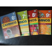 Coleção Caminos Completa 4 Livros Língua Espanhola Com Cd