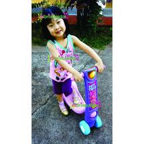 Patinete Brinquedo Infantil Certif. Inmetro Até 20kg 4 Rodas