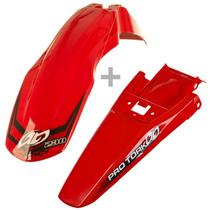 Kit Paralama Dianteiro Traseiro Vermelho Para Crf230 Tork