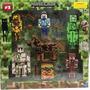 Minecraft Kit 16 Peças Boneco Brinquedo Articulado