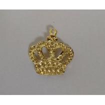 Pingentes Coroa Dourada Bijuterias Pacotes 12 Unid