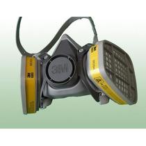 Respirador Máscara 3m Semi Facial 6200 + 02 Cartucho 6003