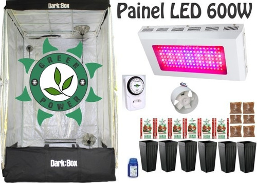 Kit Cultivo Indoor Estufa 120x120x200 Grow Completo Led 600w