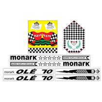 Adesivos Bicicleta Monark Barra Circular Ole 70 - Junior_sbs