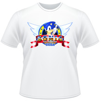 Camiseta Sonic The Hedgehog Frente E Verso Game Sega Camisa
