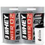Combo Whey Protein 3w Nitro2 + Coqueteleira - Chocolate