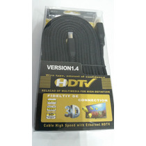 Cabo Hdmi 1.4 High Speed Full Hd 1080 4k Tv 3d Com 3 Metros
