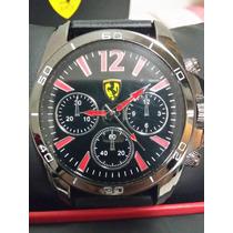 Relogio Ferrari Novo Pronta Entrega Fundo Preto