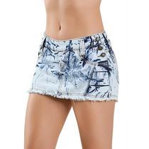 Short Saia Jeans Curto Estilo Pit Bull Jeans! Frete Gratis