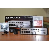 Placa Interface M Audio Quad + Pro Tools E Ignite + Usb Hub