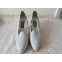 Sapato Social Gelo Tam. 36 Salto 8,5cm Couro