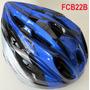 Fcb22b Capacete De Bicicleta Ciclismo Trilhas 22 Furos Azul