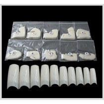 Tips Natural 500 Pc Unha Gel + Kit Pincel 15 Pc Profissional