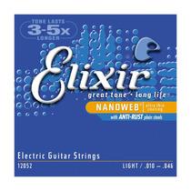 Encordoamento P/ Guitarra Elixir 0.10