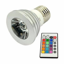 Luz Led Lampada Para Espeto De Jardim Rgb 16 Cor C/ Controle