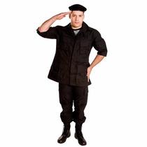 Farda Combate Tática Militar Preta Ripstop - Original