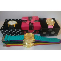 Kit 10 Relógios Feminino Silicone Atacado Revenda Lote+caixa
