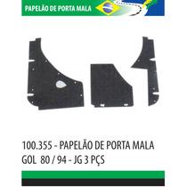 Papelão Acabamento Interno Porta Mala Gol 80-94 Jogo 3 Peças