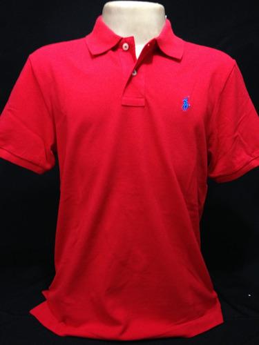 Camiseta Polo Ralph Lauren Vermelha Com Cavalo Azul Tam G 9eb1bfc8d8a