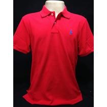 Camiseta Polo Ralph Lauren Vermelha Com Cavalo Azul Tam G