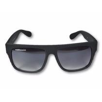 Óculos De Sol Masculino Quadrado Preto Fosco Lente Degrader