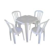 Conjunto De Mesas E Cadeiras De Plástico Goyana -unica 140kg
