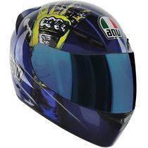 Capacete Para Motociclista Agv K3 Rossi Mugello Hands Tam 64