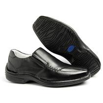 Sapato Social Casual Diabéticos Couro Legitimo Ref. 0400
