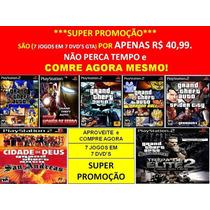 Gta San Andreas Para Playstation 2 (kit 7 Jogos Ps2