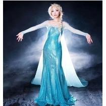 Fantasia Feminina Elsa ( Frozen ) - Luxo