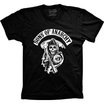 Camiseta Sons Of Anarchy - Filhos Da Anarquia - Samcro - Soa