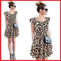 Vestido Leopardo/ Onça (oncinha/tigresa) Pronta Entrega