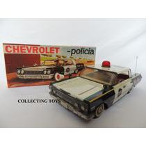 Brinquedo Antigo - Carro De Polícia - Metalma - Anos 60