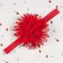 Tiara Fita Faixa Bebês De Chiffon Vermelha Petalas Importado
